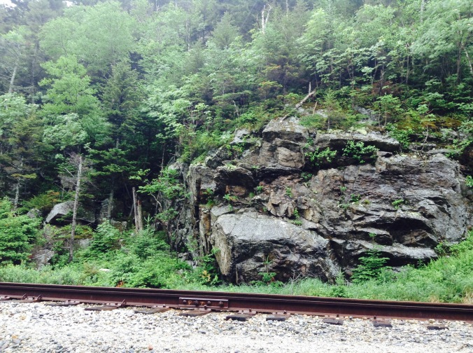 New Hampshire Rock and Train Tracks