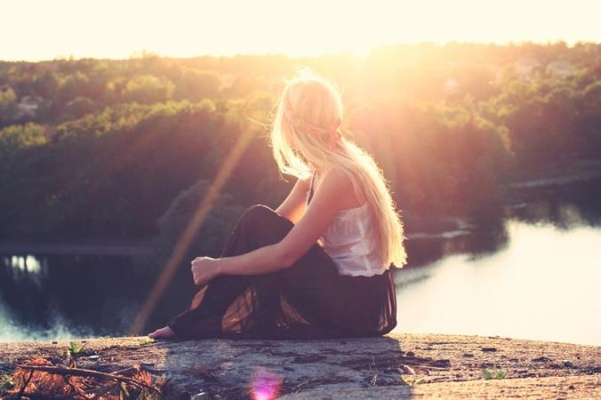 Girl on Lake