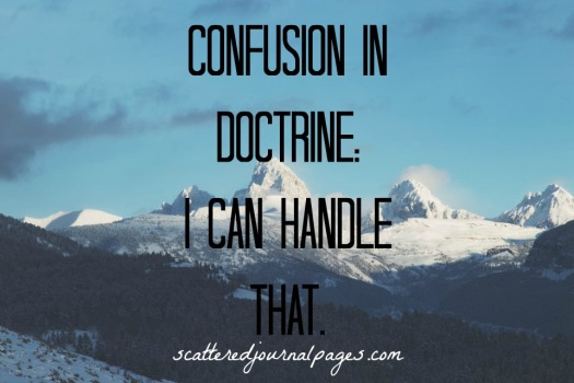 Confusion in Doctrine- I Can Handle That.