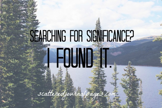 Searching For Significance? I Found It.