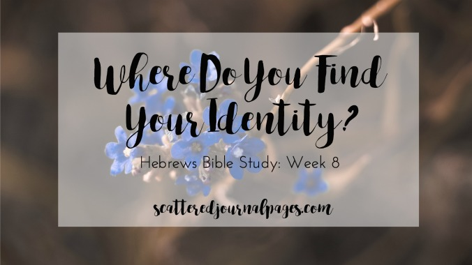 Where Do You Find Your Identity? (Hebrews Bible Study- Week 8)